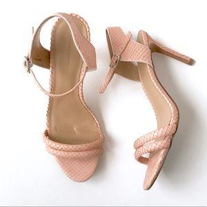 Banana Republic peach pink nude heels sandals
